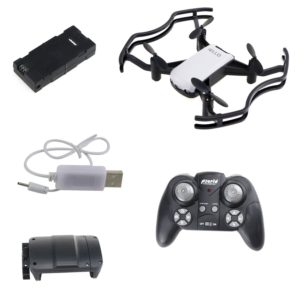 IELLO F21G Quadcopter Dron Gesture Command Drone Mini Helicopter Optical Flow Fixed Point 2MP WiFi FPV