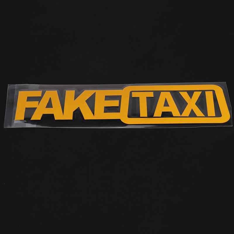 1 pièces universel voiture autocollant faux TAXI course Auto drôle vinyle décalcomanie 20x5 cm voiture style