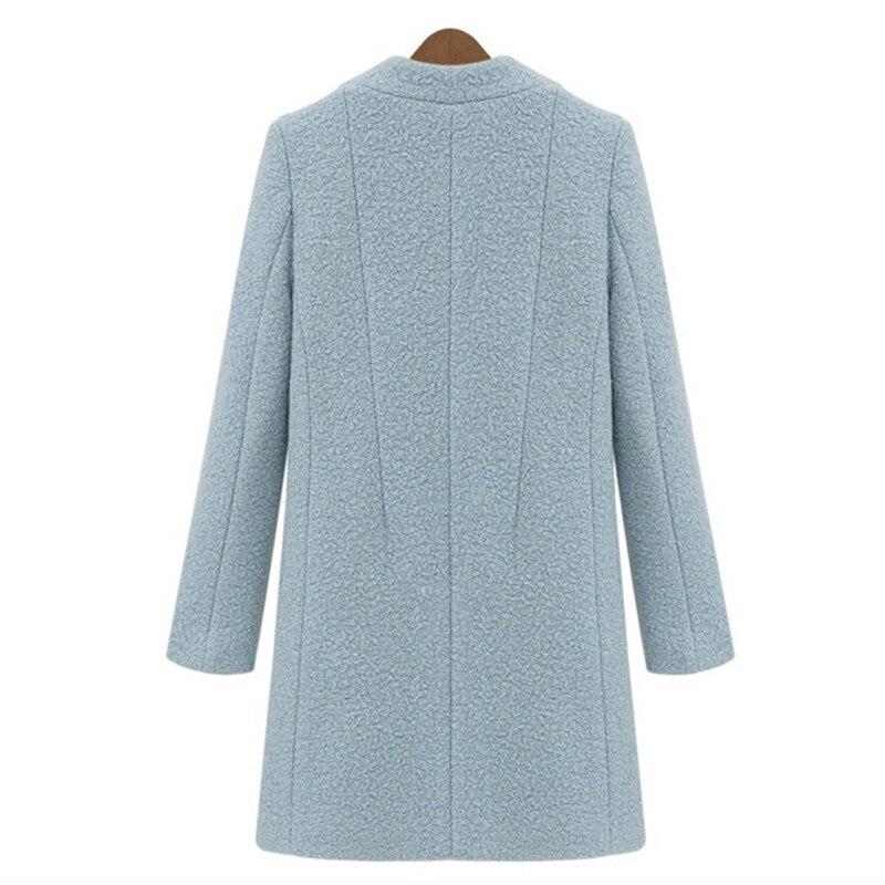 Laine Outerwe Pardessus Mince Épaissir Veste D'hiver Femmes Le Arrivée Date Coton Double Breasted 2019 Plus Turn Manteau Blue Col white down OwqUpYOW7y