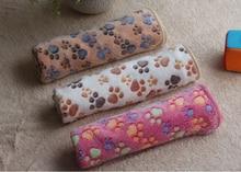 Cute, floral warm Paw-Print dog Fleece / Bed Mat