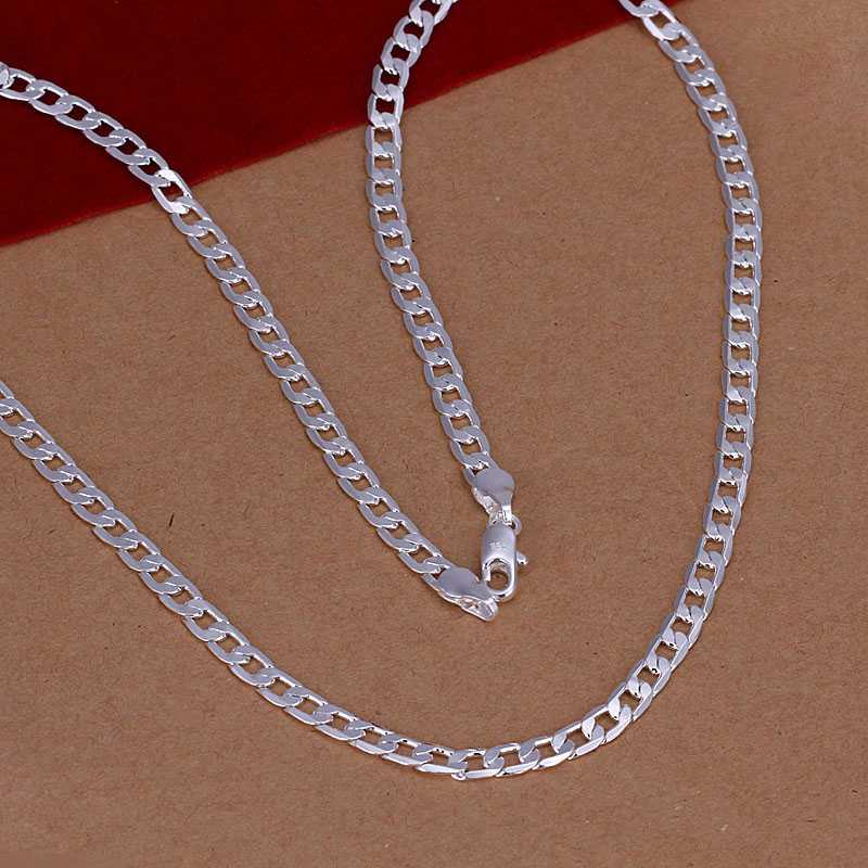 Free Shipping High Quality silver plated pendants 4mm 16''-3s