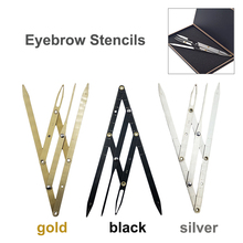 Microblading Accessories Eyebrow Ruler Stainless Steel Golden Ratio Caliper Measuring Tools for Permanent Makeup Tattoo Supplies