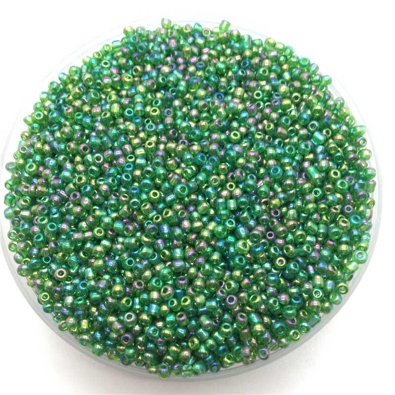 1000 قطعة/الوحدة 15 جرام 2 مللي متر سحر شفافة التشيكية الزجاج البذور الخرز قلادة سوار ذاتي الصنع لصنع المجوهرات اكسسوارات