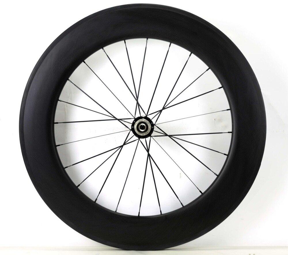 700C 88mm depth road carbon wheels 25mm width single rear wheel clincher Tubular bicycle carbon fiber