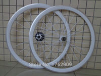 1pair New White Color 700C 38mm Clincher Rim Road Bicycle Carbon Fibre Bike Wheelsets With Alloy
