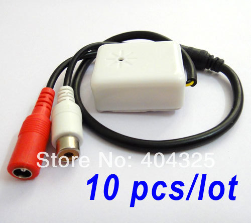 10pcs Mini Mic CCTV Audio Microphone cable RCA OUTPUT for Security Camera часы guess guess gu460dmflx17