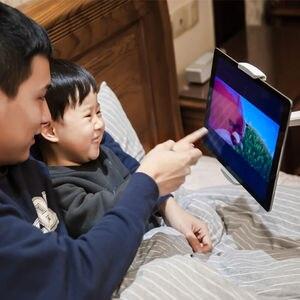 Image 5 - 3 в 1, подставка из алюминиевого сплава для планшетов 7 13 дюймов + держатель для смартфона 3,5 6 дюймов + напольная подставка для ноутбука 10 15,6 дюймов, Поворотный шарнир с лотком для мыши