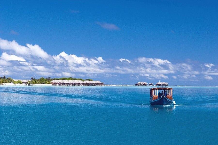 DIY frame maldives tropics sea island boat Seascape landscape Poster Fabric Silk Posters And Prints For Home Decoration URRE127