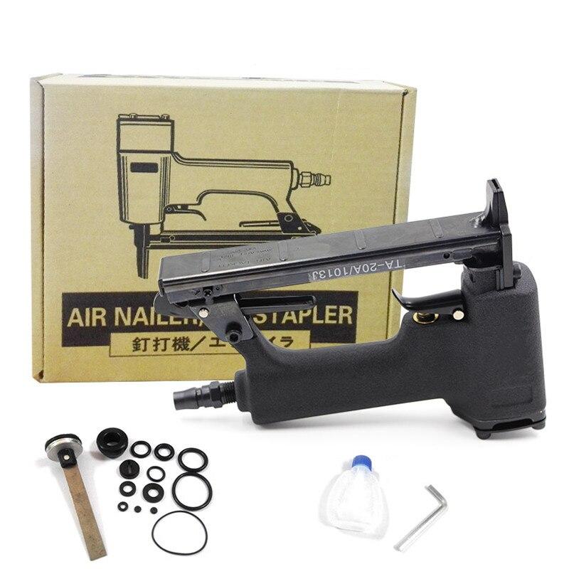 free shipping pneumatic nail gun smooth air stapler U type wind nail tool woodworking home decoration not jam block carton pack