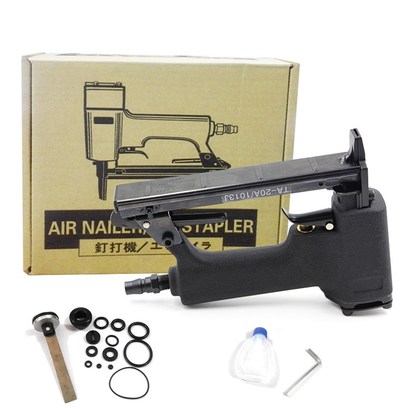 free shipping pneumatic nail gun smooth air stapler U type wind nail tool woodworking home decoration not jam block carton pack nail gun for width 10mm code nail 10 22mm u air stapler u nail pneumatic air nail gun 0 6mm nial diameter 8mm pu pipe