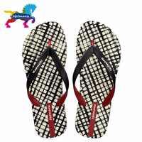 Hotmarzz Men Slippers Lattice Flip Flops Summer Beach Sandals Pool Shower Bathroom Slides Shoes