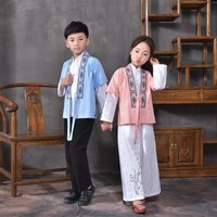 New 3 PCS Child Chinese Traditional Costume Girls National Hanfu Clothing Boy Tang Dynasty Cosplay Costume