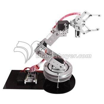 Aluminium 6 DOF Robotic Robot Arm Clamp Claw & MG996R Servos Swivel Rotatable Stand Mount Kit- Silver
