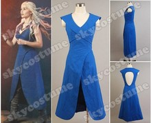 Hot Sell Game of Thrones Daenerys Targaryen Mother of Dragons Dress Cosplay Costume Adult Costumes For Halloween