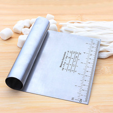 1pc Stainless Steel Dough cutter Flour Spatula Scraper Blade Tool Rice Rolls Slicer Knife Scale Baking Tools
