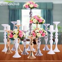 ERMAKOVA подсвечники стойка колонна подсвечник событие дорога свинец цветок стойка для вазы стол Свадебные центральные вечерние украшения для ужина