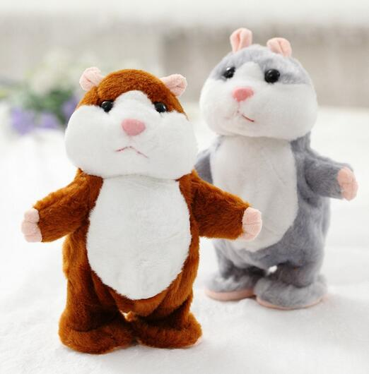 Cute Speak Talking Sound Record Hamster Educational Mouse Plush Toy for Children