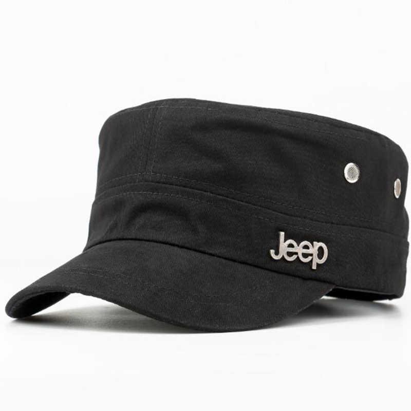 46943f4150170 KHGDNOR Summer Newsboy Cap Jeep Truck Flat Top Hat Outdoor Fishing Sun Hat  for Men Adjustable