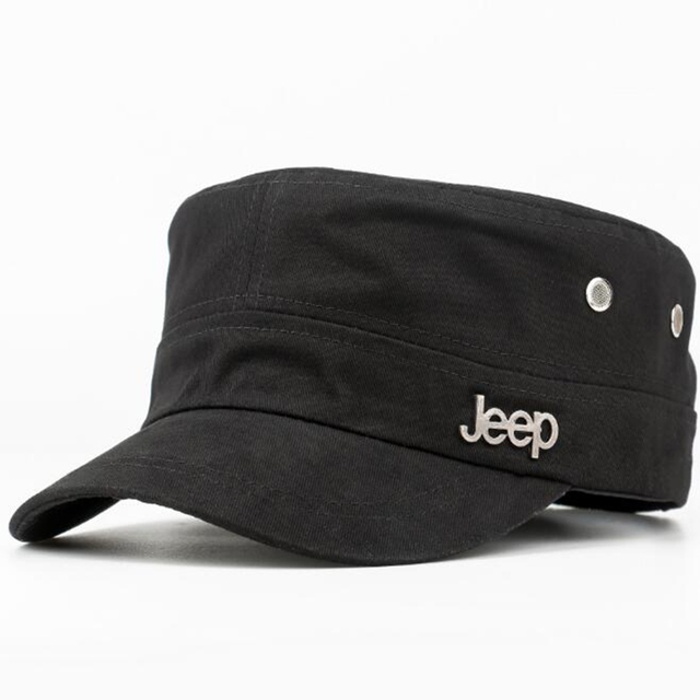 KHGDNOR verano gorra de repartidor de Jeep Truck plana sombrero de pesca al  aire libre sombrero 68e2a043414