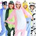 Onesies для взрослых пижамы Фланелевые Капюшоном Пижамы 2017 Косплей Животных Onesies Пижамы Для Женщин Людей Взрослых onesie pijama