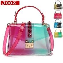 ใสอานกระเป๋าแฟชั่นผู้หญิงRivet Jellyกระเป๋ากระเป๋าถือผู้หญิงกระเป๋าถือSac A Main Femmeกระเป๋าสะพาย