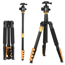 Qingzhuangshidai Newest Q570A Professional Tripod Monopod with Ball Head Travel Portable Folding Tripod  for SLR Camera