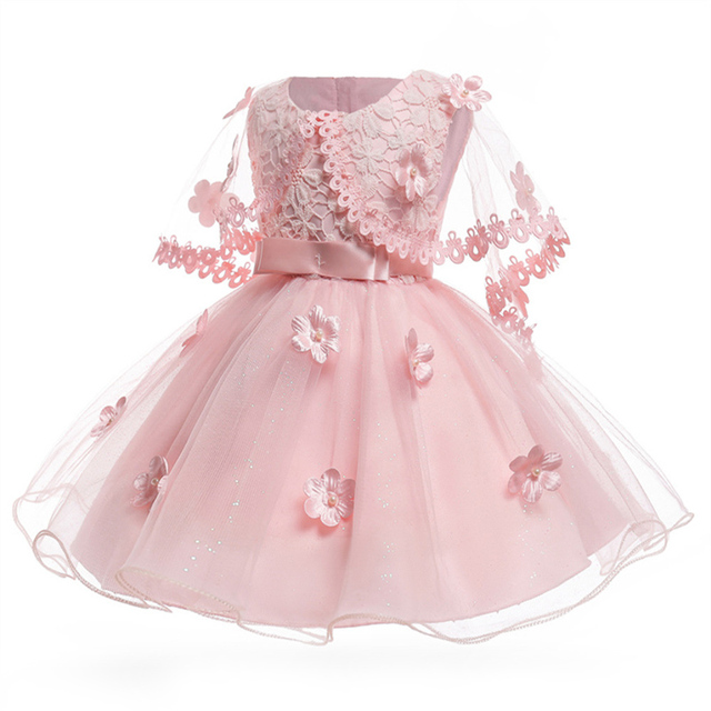 b28ccdf73ba02 US $14.07 30% OFF|High Quality New Design Baby Girls Fashion Clothes  Breathable Lace Pink Princess Dress Kids Fashion Cute Party Dress For Xmas  -in ...