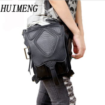 HUIMENG NEW Vintage Waist Pack Leg Bag Waterproof Waistpack Motorcycle Drop Belt Pouch Fanny Pack Waist Belt Packs For Men Women