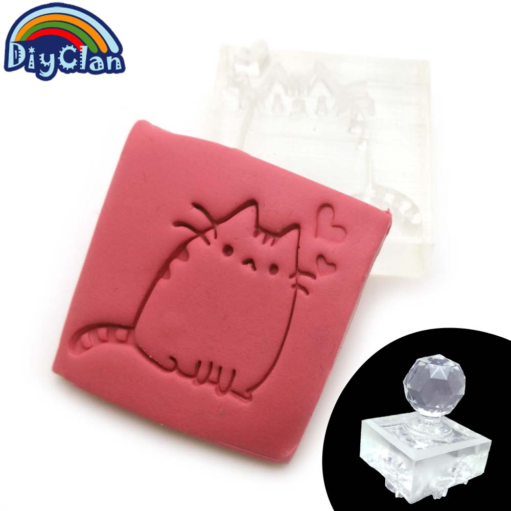 Acrylic DIY resin DIY handmade Kitten Resin soap stamp chapter diy multiple styles patterns Z0126XM