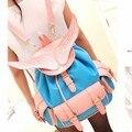 Стейси сумки горячих женщин кожа рюкзак девушки Ангельские крылья рюкзак путешествия женский старинные карманные мешок школы