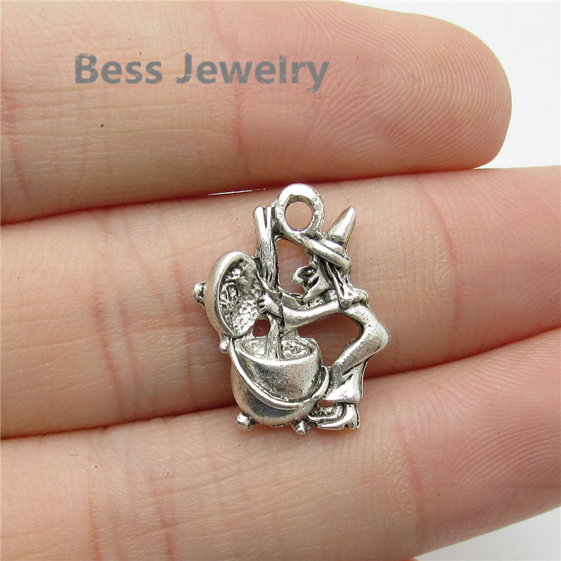 Pandora Style Jewelry: Aliexpress.com : Buy 38pcs(19*15mm) Antique Silver Witch
