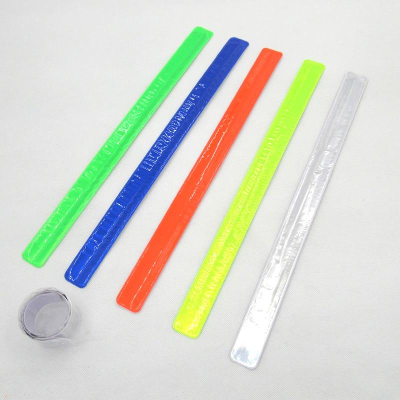 ჱ2 unids/lote 40 cm muñequera reflectante SLAP pulseras bofetada ...