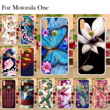 Phone Case For Motorola One Case For Moto One Case Cover For Moto P30 Play Funda Transparent Flower Painted Soft TPU Bumper 5.9 sfor phone case motorola one case luxury rubber phone case for motorola p30 play cover for moto one motorola one xt1941 fundas