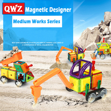 QWZ 3 Style Medium Size Magnetic Blocks Magnetic Designer Construction 3D Model Magnetic Blocks Educational Toys For Children цена в Москве и Питере