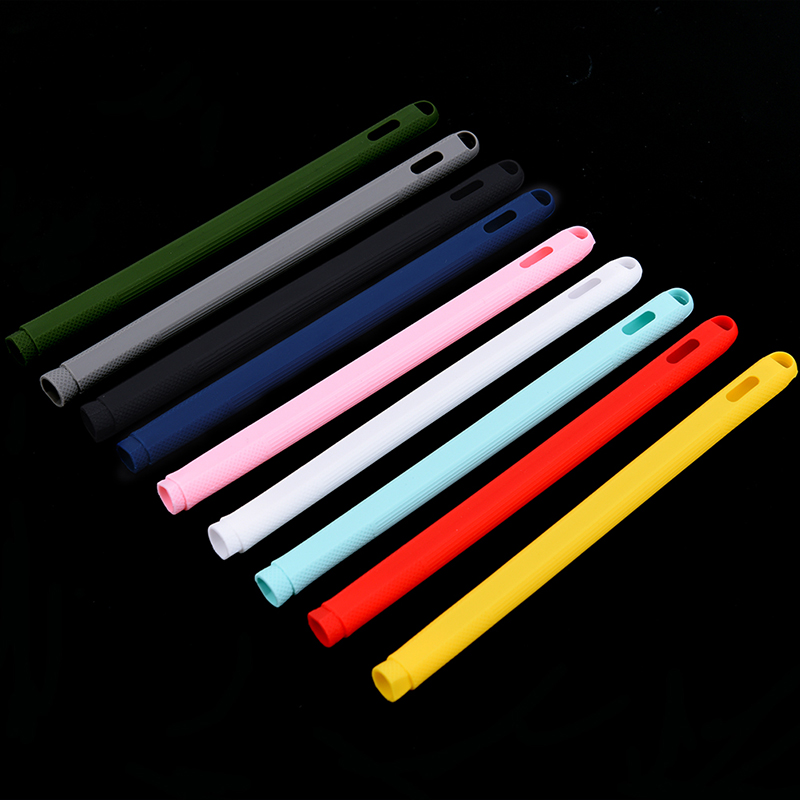 For IPad Pencil 2nd Skin Protective Case Non-Slip Sleeve Cover Colorful Soft Silicone Compatible For Tablet Touch Pen Stylus