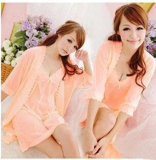 Женщины Сексуальное платье Белье лед шелковые пижамы слинг костюмы, из двух частей, пижамы, пижамы 9127