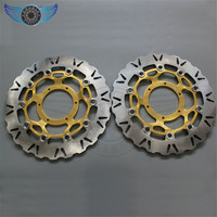 Motorcycle Gold TR Front Brake Disc Rotor DL Fit For Honda CBR1000RR 2006 2007 2008 2009