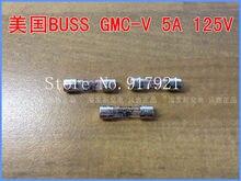 Импортная трубка Предохранителя [ZOB] для США, Bussmann BUSS GMA-V 5A125V 5X20, 200 шт./лот