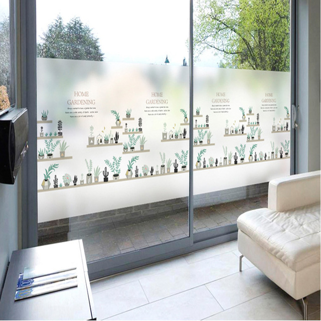 Self adhesive window stickers glass stickers scrub glass folders decoration office sliding doors transparent opaque