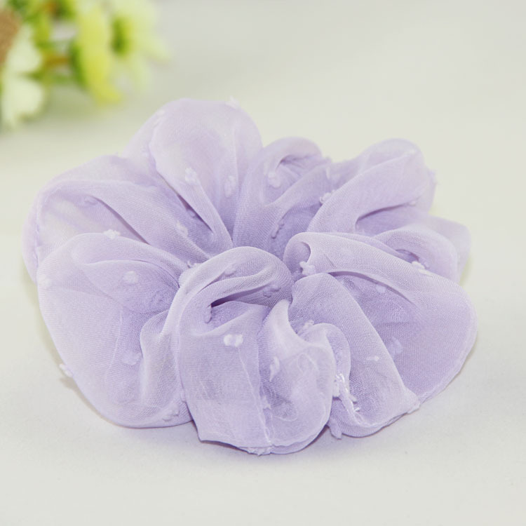 New fashion Women Organza candy color Chiffon Hair Scrunchies   Headwear   Ponytail Holder Hair Ties Ropes Elastic Hair Bands