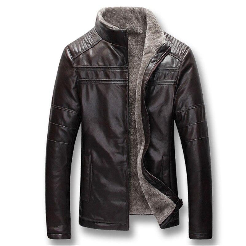 Hommes automne hiver épais polaire vestes en cuir synthétique polyuréthane manteaux Hombre mâle décontracté mode Slim Fit grande taille Zip vestes hommes manteau