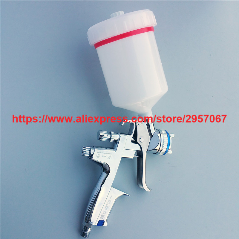 4000B HVLP car paint spray gun Gravity feed nozzle 1.3mm sprayer with 600cc cup high efficiency forged version jet 5000b hvlp jet gun gravity spray gun with 1 3mm nozzle 5000b rp 4000b rp pneumatic spray gun car spray gun