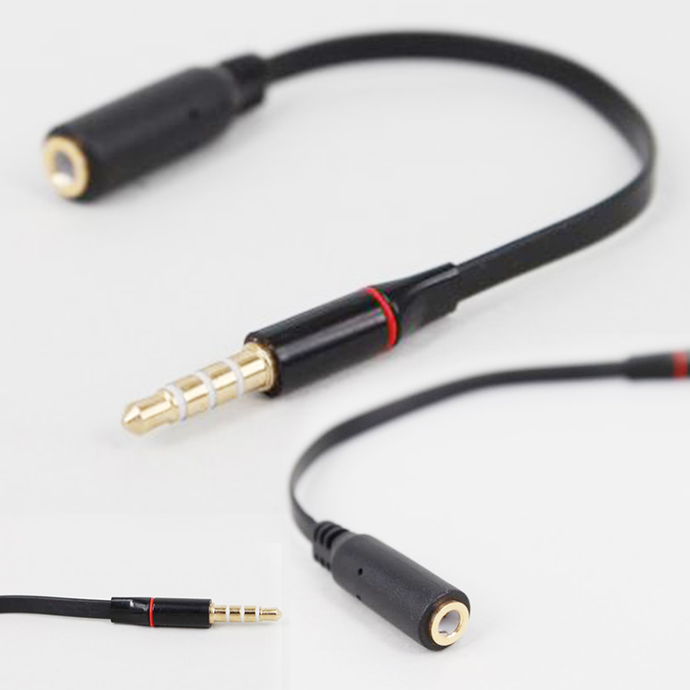 Black <font><b>15cm</b></font> 3.5mm Male to Female Jack Stereo Audio speakers Headphone Extension Cable Extender image