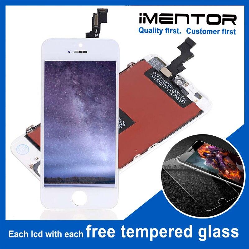 10 piezas para AAA iphone 5s lcd con pantalla táctil pantalla de cristal templado 10 piezas-in Teléfono Móvil LCD pantallas from Teléfonos celulares y telecomunicaciones on AliExpress - 11.11_Double 11_Singles' Day 1