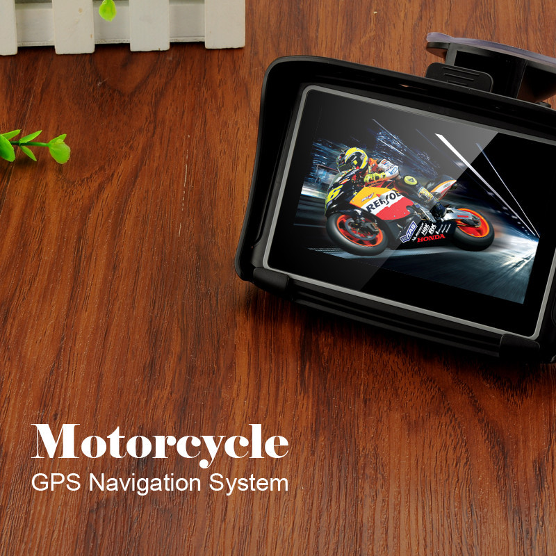 Hot 4 3 Waterproof IPX7 Motorcycle GPS Navigation MOTO Navigator With FM Bluetooth 8G Flash Prolech