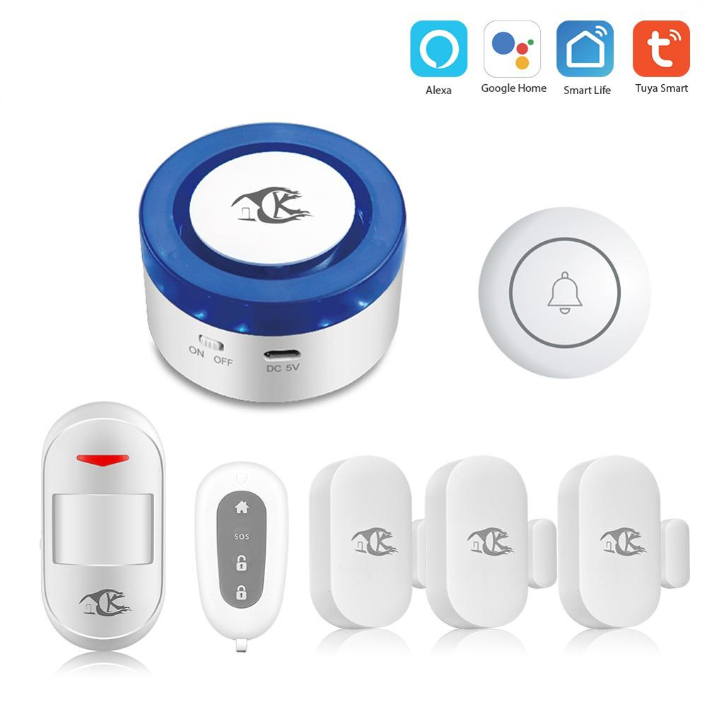 Tuya Smart home security wifi alarm siren for smart life free APP compatible 433Mhz Alarm Sensors