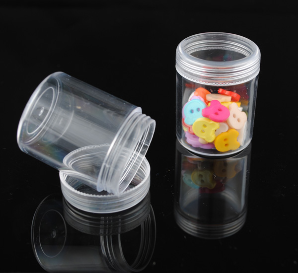 2pcs Transparent Storage Box For Earring Rings Beads Buttons Container Jewelry Bins Case