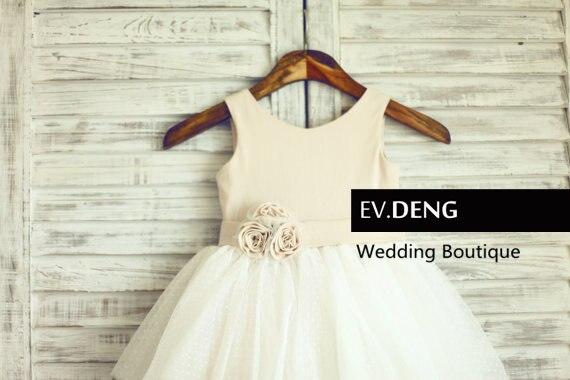 Фактические lmages ручной цветок девочки платья для свадеб vestido де noiva платье выпускного вечера дети горячая - Цвет: same as picture