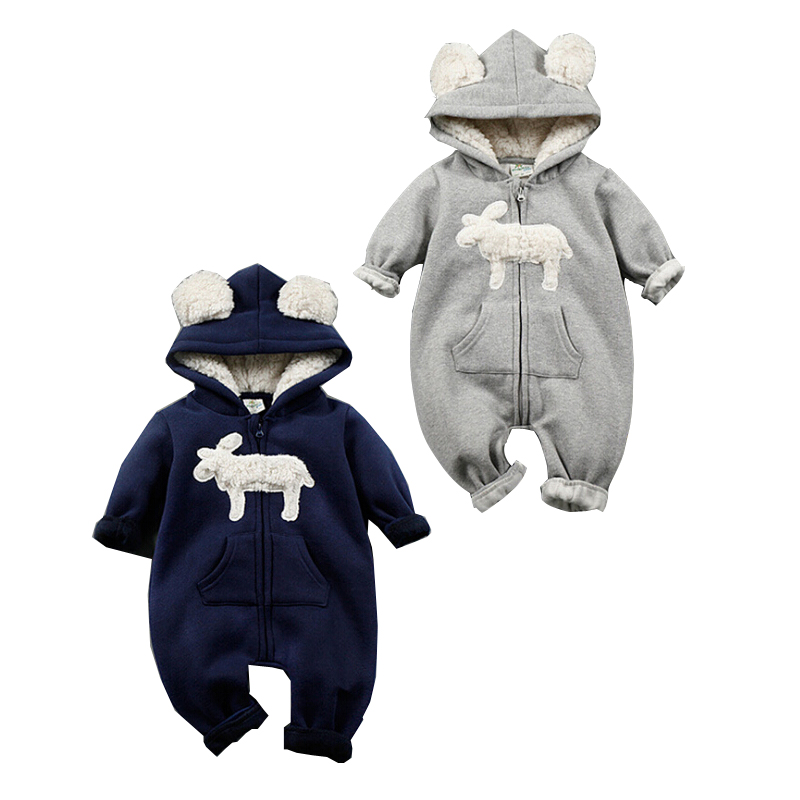2018 NEW Baby boy Girls Rompers Baby Boy suits Infant spring winter jumpsuit Thickene One-pieces Clothes COTTON Overalls baby rompers 2015 autumn winter new long sleeve cotton infant boy girl overalls infantil bebe menino menina jumpsuit kf310