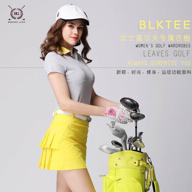 Lady golf shirt sports training women short-sleeve T shirt golf quick-drying elastic golf jersey korean slim top shirt 4 colors